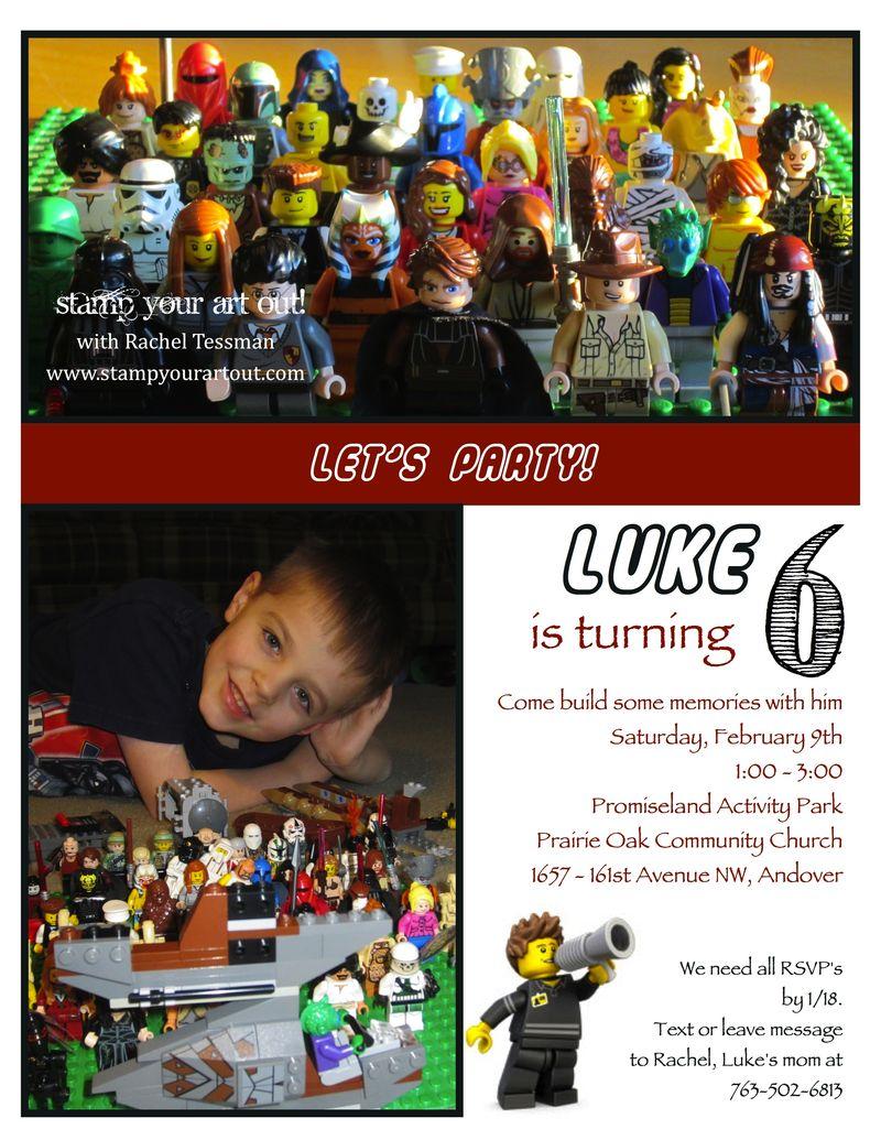 Luke's 6th Lego invite-001