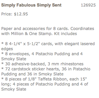 Simply Fabulous Sent Card Kit