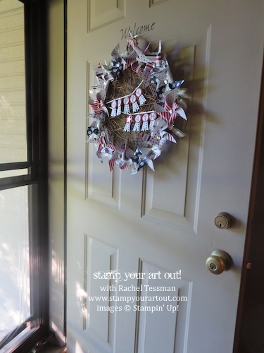 June 2014 My Paper Pumpkin: Pinwheel Party Alternate Ideas – A Welcoming Door Wreath… Stampin' Up!® - Stamp Your Art Out! www.stampyourartout.com