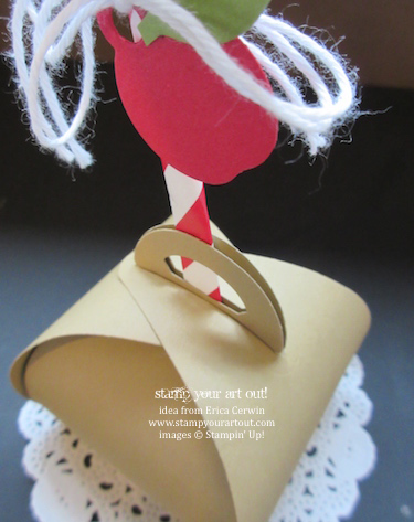 Curvy Keepsakes caramel apple box… #stampyourartout #stampinup - Stampin' Up!® - Stamp Your Art Out! www.stampyourartout.com