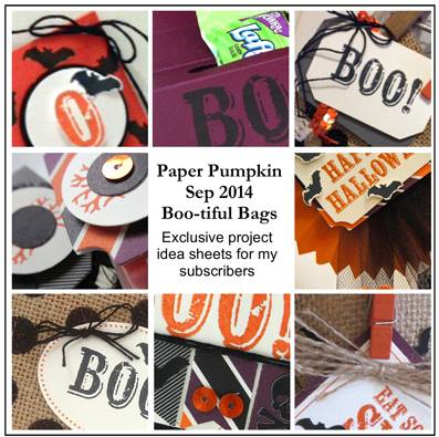 Sneak Peek at the September 2014 Boo-tiful Bags Paper Pumpkin kit exclusive alternate projects… #stampyourartout #stampinup - Stampin' Up!® - Stamp Your Art Out! www.stampyourartout.com