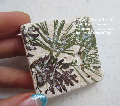Pinecone Magnet Gift and Bag Topper… #stampyourartout #stampinup - Stampin' Up!® - Stamp Your Art Out! www.stampyourartout.com