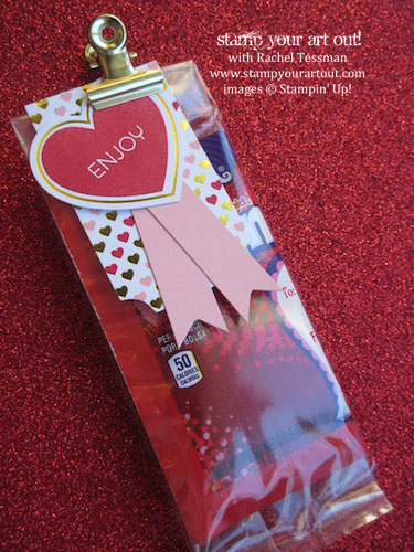 Valentine's Day Treats for Classmates… #stampyourartout #stampinup - Stampin' Up!® - Stamp Your Art Out! www.stampyourartout.com