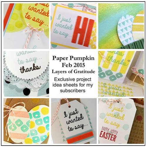 Sneak Peek at the February 2015 Layers of Gratitude Paper Pumpkin kit exclusive alternate projects… #stampyourartout #stampinup - Stampin' Up!® - Stamp Your Art Out! www.stampyourartout.com
