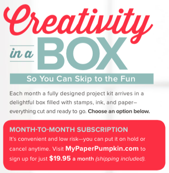 Subscribe to Paper Pumpkin today!… #stampyourartout #stampinup - Stampin' Up!® - Stamp Your Art Out! www.stampyourartout.com