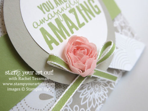 Pinwheel Fun Fold card made with Painted Petals stamp set & Something Borrowed designer paper (inspired by Dawn Olchefske) #stampyourartout #stampinup - Stampin' Up! - Stamp Your Art Out! www.stampyourartout.com