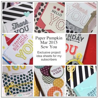 Sneak Peek at the March 2015 Sew You Paper Pumpkin kit exclusive alternate projects… #stampyourartout #stampinup - Stampin' Up!® - Stamp Your Art Out! www.stampyourartout.com