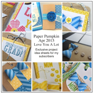 Sneak Peek at the April 2015 Love You A Lot Paper Pumpkin kit exclusive alternate projects… #stampyourartout #stampinup - Stampin' Up!® - Stamp Your Art Out! www.stampyourartout.com