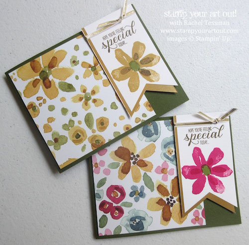 Demonstrator Appreciation cards made with English Garden designer series paper and Garden In Bloom stamp set…#stampyourartout #stampinup - Stampin' Up!® - Stamp Your Art Out! www.stampyourartout.com