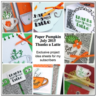 Sneak Peek at the July 2015 Thanks a Latté Paper Pumpkin kit exclusive alternate projects… #stampyourartout #stampinup - Stampin' Up!® - Stamp Your Art Out! www.stampyourartout.com