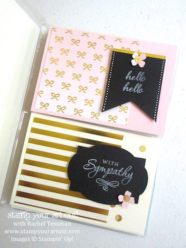 Box of cards made with the August 2015 Chalk It Up To Love Paper Pumpkin kit…#stampyourartout #stampinup - Stampin' Up!® - Stamp Your Art Out! www.stampyourartout.com