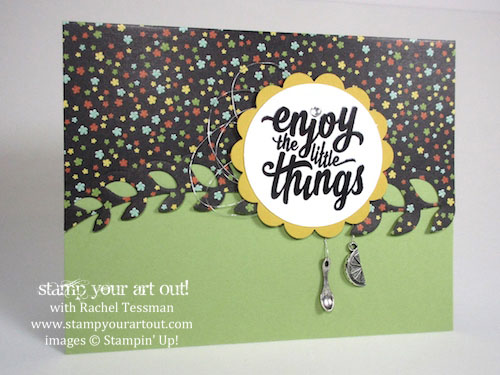 enjoy the little things stamp your art out
