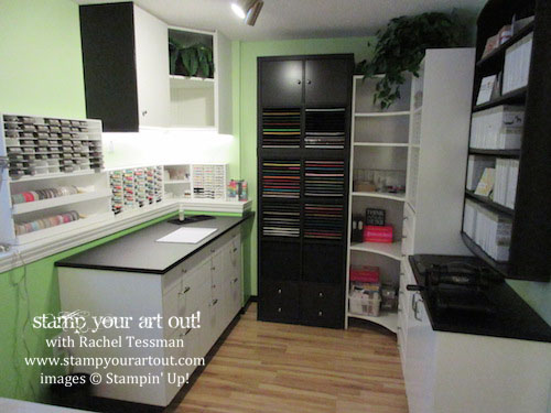 My craft room is almost done – click here to see & read about the progression of the remodel (I love my Stamp-N-Storage pieces!)… #stampyourartout #stampinup - Stampin' Up!® - Stamp Your Art Out! www.stampyourartout.com