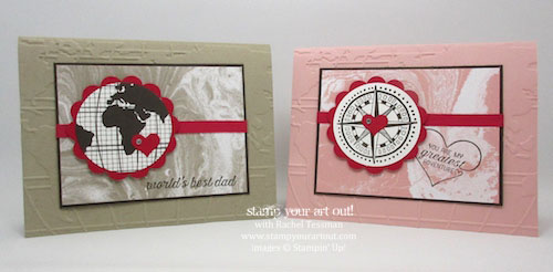 Fun cards for Valentine's Day (or whenever!) made with the Going Global stamp set and other great products from the new 2016 Occasions Catalog & Sale-A-Bration brochure...#stampyourartout #stampinup - Stampin' Up!® - Stamp Your Art Out! www.stampyourartout.com