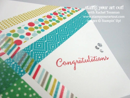 Easy washi tape cards (Cherry On Top Washi Tape)… #stampyourartout #stampinup - Stampin' Up!® - Stamp Your Art Out! www.stampyourartout.com
