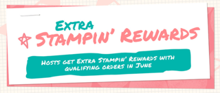 Earn additional Stampin' Rewards dollars with a $350+ party or order during the month of July!... Stampin' Up!®  Stamp Your Art Out! www.stampyourartout.com  #stampyourartout #stampinup