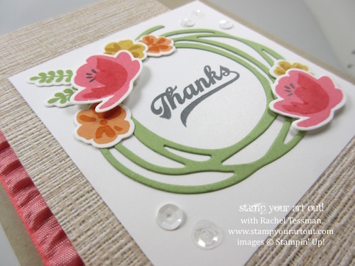 One of four cards from Jar of Love Themed Card Class – cards made with Serene Scenery designer paper and Jar of Love stamp set… #stampyourartout - Stampin' Up!® - Stamp Your Art Out! www.stampyourartout.com