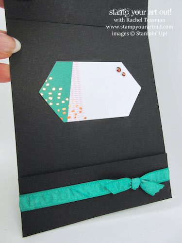 "Fun-Fold ""Matchbook"" Card - Click here to see lots of project ideas created with the July 2016 What A Gem Paper Pumpkin kit… #stampyourartout - Stampin' Up!® - Stamp Your Art Out! www.stampyourartout.com"