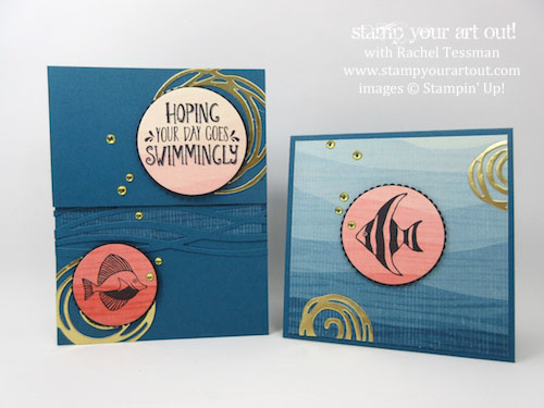 Click here to see two coordinating cards created with the Seaside Shore stamp set, By The Shore Designer Paper, Layering Circles Framelits and Swirly Scribbles Thinlits… #stampyourartout - Stampin' Up!® - Stamp Your Art Out! www.stampyourartout.com