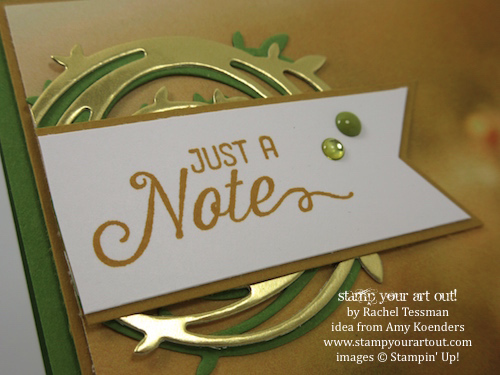 Serene Scenery designer paper, Flourishing Phrases stamp set and Swirly Scribbles thinlits (CASEd from Amy Koender's fabulous card – thanks, Amy!)… #stampyourartout - Stampin' Up!® - Stamp Your Art Out! www.stampyourartout.com