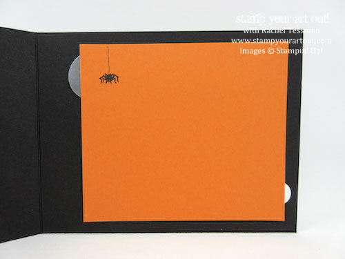 Simple circles Halloween card made with Jar of Haunts stamp set and Halloween Night designer paper and enamel dots (from the 2016 Holiday catalog)… #stampyourartout - Stampin' Up!® - Stamp Your Art Out! www.stampyourartout.com