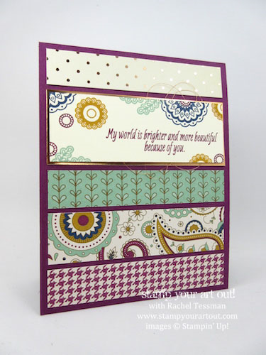 October 2016 Paisley's & Posies Card Class (1 of 4 cards)... #stampyourartout - Stampin' Up!® - Stamp Your Art Out! www.stampyourartout.com