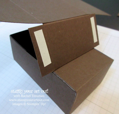 How to make the UPS truck box.… #stampyourartout - Stampin' Up!® - Stamp Your Art Out! www.stampyourartout.com