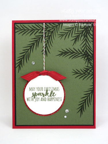 November 2016 Christmas Pines Card Class.… #stampyourartout - Stampin' Up!® - Stamp Your Art Out! www.stampyourartout.com