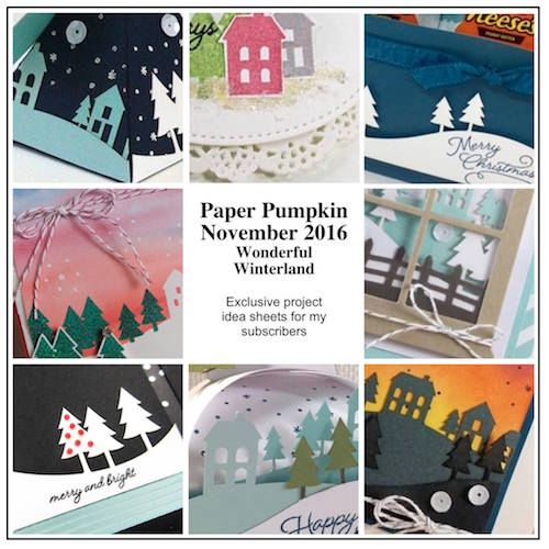 Sneak Peek at the November 2016 Wonderful Winterland Paper Pumpkin Kit exclusive alternate projects…#stampyourartout - Stampin' Up!® - Stamp Your Art Out! www.stampyourartout.com