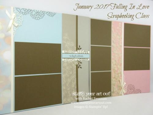 January 2017 Falling In Love Scrapbooking Class…#stampyourartout - Stampin' Up!® - Stamp Your Art Out! www.stampyourartout.com