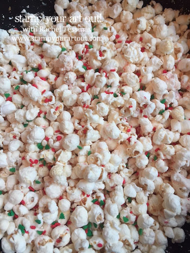 Peppermint Crunch Popcorn… #stampyourartout - Stampin' Up!® - Stamp Your Art Out! www.stampyourartout.com
