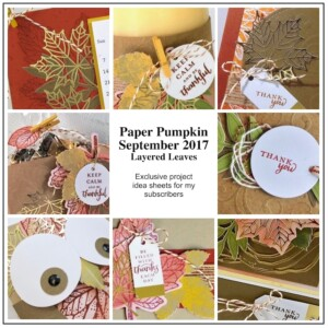 Sneak Peek at the September 2017 Layered Leaves Paper Pumpkin Kit exclusive alternate projects ...#stampyourartout #stampinup - Stampin' Up!® - Stamp Your Art Out! www.stampyourartout.com