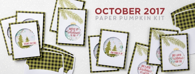 October 2017 Pining for Plaid Paper Pumpkin Kit.… #stampyourartout #stampinup - Stampin' Up!® - Stamp Your Art Out! www.stampyourartout.com