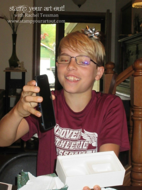 Nick's 12th birthday celebration…#stampyourartout - Stampin' Up!® - Stamp Your Art Out! www.stampyourartout.com