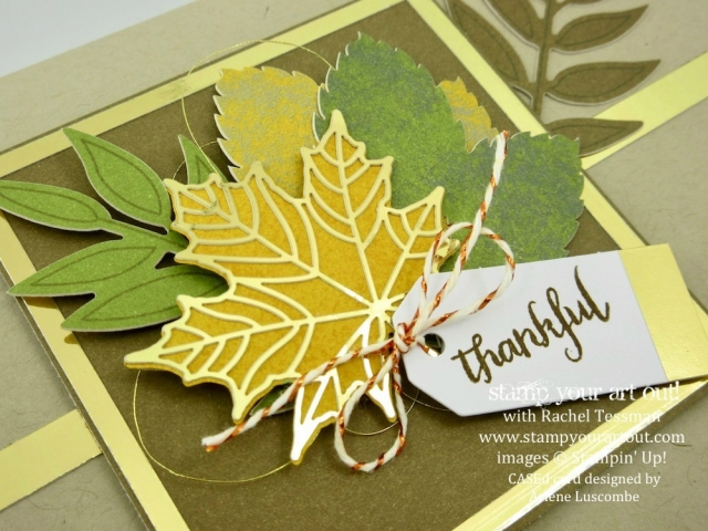 A Beautiful Alternate Card that I CASEd from Arlene Luscombe with the Layered Leaves September 2017 Paper Pumpkin kit… #stampyourartout - Stampin' Up!® - Stamp Your Art Out! www.stampyourartout.com