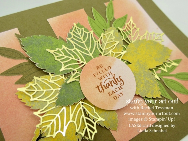 A Beautiful Alternate Card that I CASEd from Linda Schnabel with the Layered Leaves September 2017 Paper Pumpkin kit… #stampyourartout - Stampin' Up!® - Stamp Your Art Out! www.stampyourartout.com