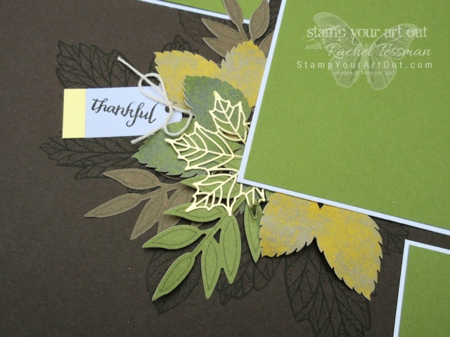 Elegant 12x12 Scrapbook Page Layout made with the September 2017 Layered Leaves Paper Pumpkin Kit.… #stampyourartout #stampinup - Stampin' Up!® - Stamp Your Art Out! www.stampyourartout.com