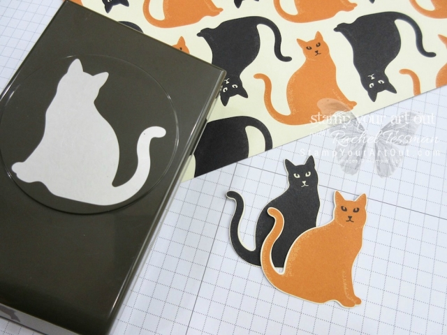 Two fun cat cards made with the Cat Punch from the 2017 Holiday Catalog...#stampyourartout - Stampin' Up!® - Stamp Your Art Out! www.stampyourartout.com