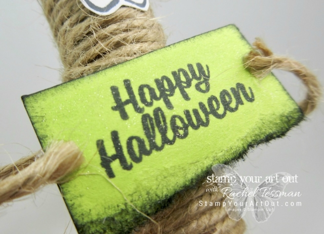 Super Cute Test Tube Mummies made with the Treat Tubes, Jute Twine, and images from the Spooky Cat stamp set – all in the 2017 Holiday Catalog...#stampyourartout - Stampin' Up!® - Stamp Your Art Out! www.stampyourartout.com