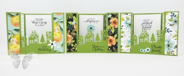 Alaskan Achievers Blog Hop October 2017: Bridge Fold Card made with the Hometown Greetings Edgelits, the Beautiful Bouquet stamp set, and the Whole Lot of Lovely Designer Paper (with a how-to video!)…#stampyourartout - Stampin' Up!® - Stamp Your Art Out! www.stampyourartout.com