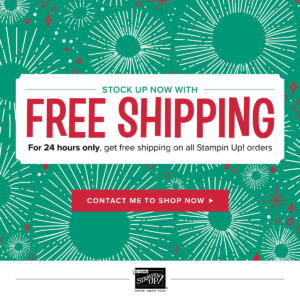 Stampin' Up!'s Cyber Monday Flash Sale – Free shipping on any order! ...#stampyourartout #stampinup - Stampin' Up!® - Stamp Your Art Out! www.stampyourartout.com