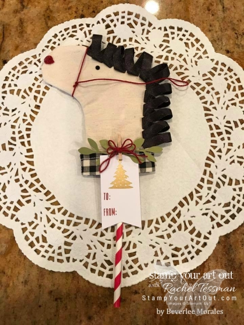 A fun horse from the November 2017 Paper Pumpkin kit! (Thanks, Beverlee Morales for sharing your idea on our Paper Pumpkin Fan Club Facebook Group!) ...#stampyourartout #stampinup - Stampin' Up!® - Stamp Your Art Out! www.stampyourartout.com