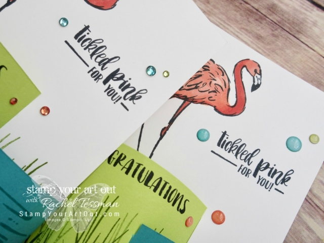 Use the Fabulous Flamingo stamp set and the Stampin' Blends markers to create these fun Bendi Cards…#stampyourartout - Stampin' Up!® - Stamp Your Art Out! www.stampyourartout.com