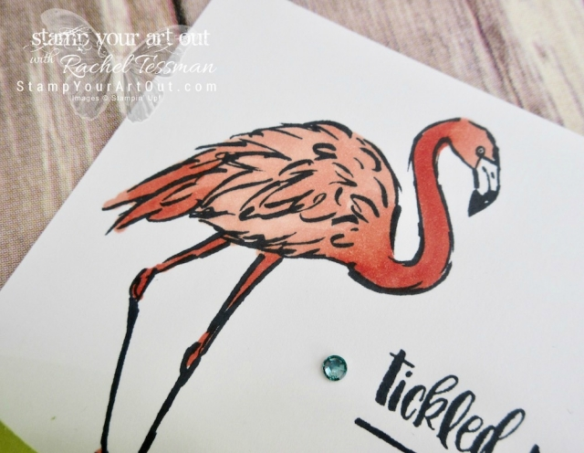 Use the Fabulous Flamingo stamp set and the Stampin' Blends markers to create this fun Bendi Card…#stampyourartout - Stampin' Up!® - Stamp Your Art Out! www.stampyourartout.com