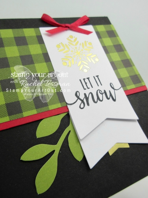 Make-n-take card (using supplies from the October Pining for Plaid and November Back in Plaid kits) from my 2017 Paper Pumpkin Palooza event!...#stampyourartout #stampinup - Stampin' Up!® - Stamp Your Art Out! www.stampyourartout.com