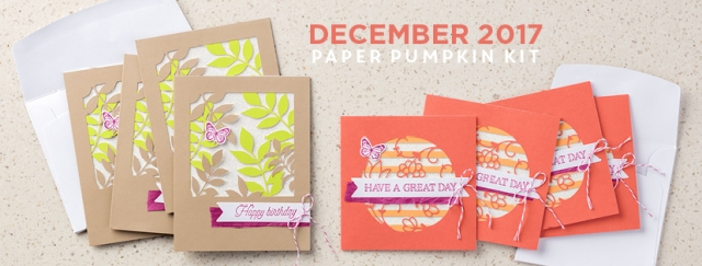 December 2017 Flora and Flutter Paper Pumpkin kit! ...#stampyourartout #stampinup - Stampin' Up!® - Stamp Your Art Out! www.stampyourartout.com