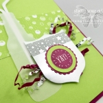 Fun, festive card made with the Bubble Over stamp set, Bottles & Bubbles framelits, Bubbles & Fizz designer paper, Best Badge punch, and Sweet Soirée Ready Shreddie…#stampyourartout #stampinup - Stampin' Up!® - Stamp Your Art Out! www.stampyourartout.com