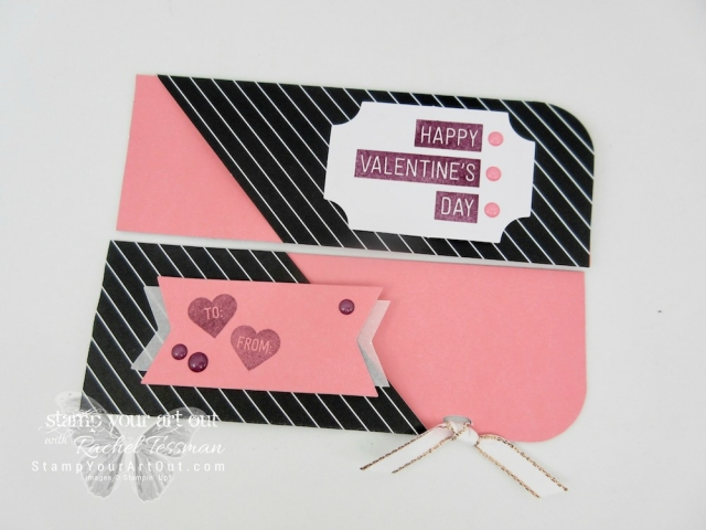 Click here to see fun alternate project ideas created with the January 2018 Heartfelt Love Notes Paper Pumpkin kit in A Paper Pumpkin Thing Blog Hop! This project idea shows how to turn 16 cards into 32 Valentines...#stampyourartout #stampinup - Stampin' Up!® - Stamp Your Art Out! www.stampyourartout.com