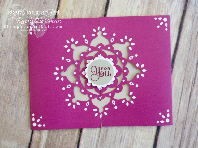 A fancy thank you made with the Mixed Medallions Card Kit (a 2018 Sale-a-Bration freebie through March 2018)....#stampyourartout #stampinup - Stampin' Up!® - Stamp Your Art Out! www.stampyourartout.com