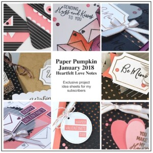 Sneak Peek at the January 2018 Heartfelt Love Notes Paper Pumpkin Kit exclusive alternate projects ...#stampyourartout #stampinup - Stampin' Up!® - Stamp Your Art Out! www.stampyourartout.com